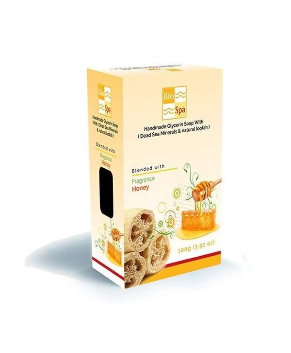 Sapun glicerina cu aroma de Miere (Cu minerale din Marea Moarta si Lufa naturala) 1