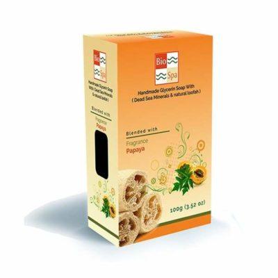 Sapun natural cu glicerina si aroma de Papaya (Cu minerale din Marea Moarta si Lufa naturala) beauty secrets