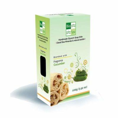 Sapun natural cu glicerina si aroma de castravete (Cu minerale din Marea Moarta si Lufa naturala)